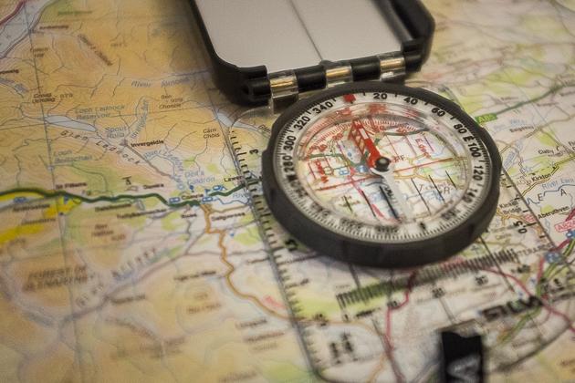 orientierung mit kompass